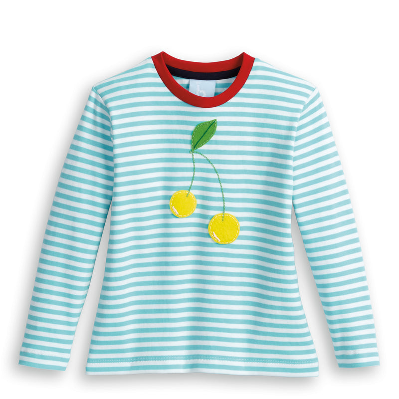 Striped Long Sleeve Applique Tee (4479845007440)