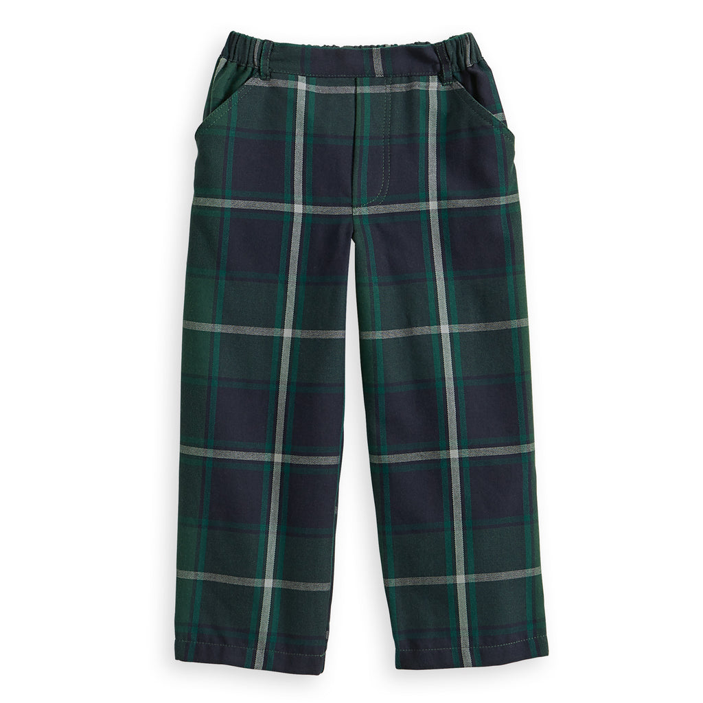 Plaid Faux Zip Pant (4489503440976)