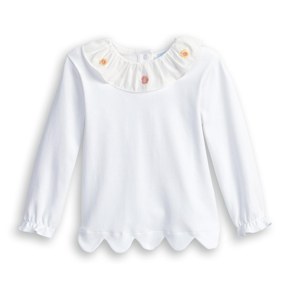 Missy Pima Blouse with Embroidery