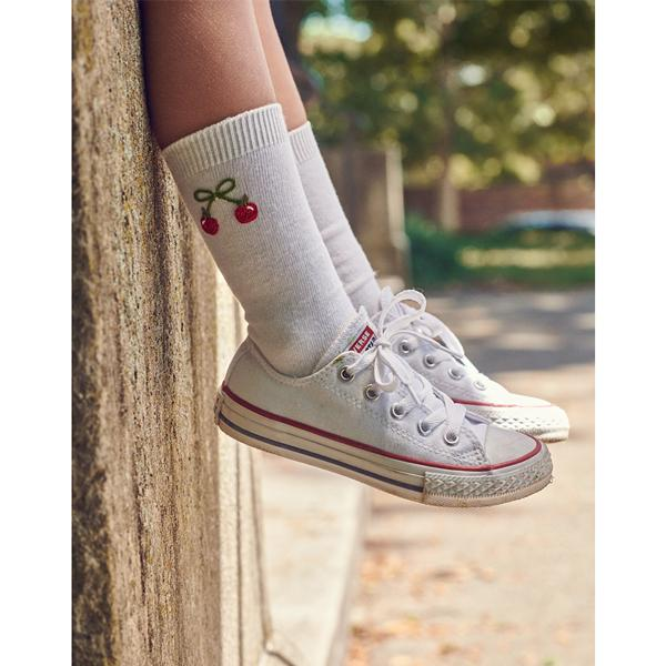 Embroidered Fall Knee Sock