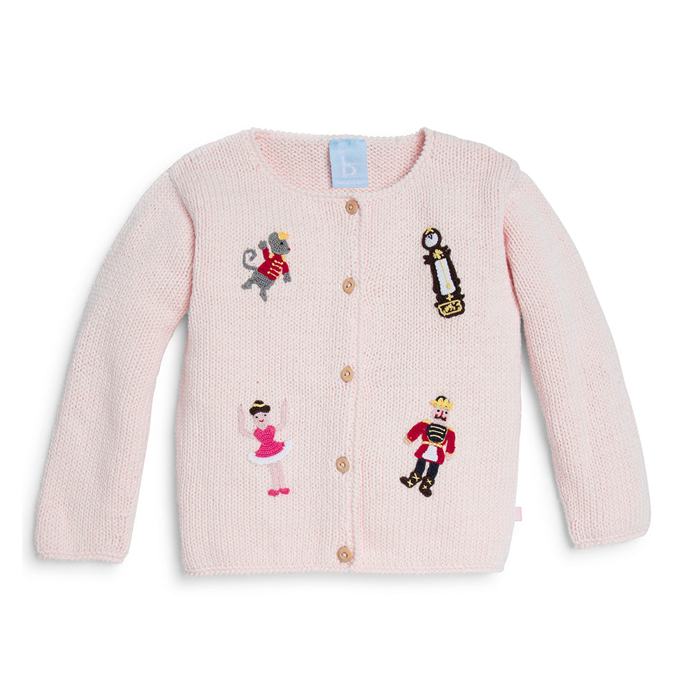 Girl's Applique Nutcracker Cardigan (4490371596368)