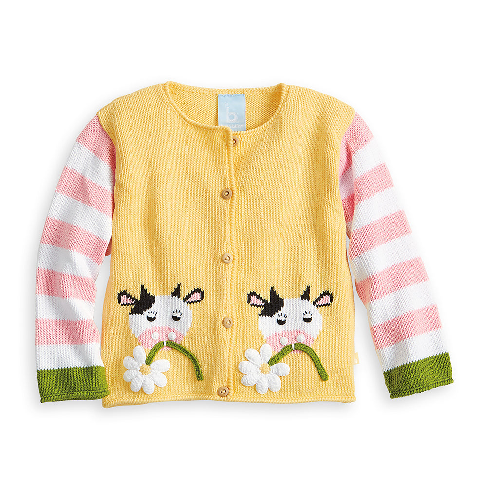 Applique Callie Cow Cardigan (4490368090192)