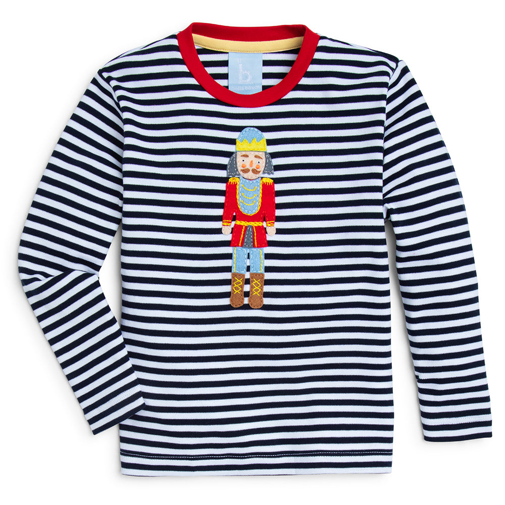 Long Sleeve Applique Nutcracker Tee (4483367993424)