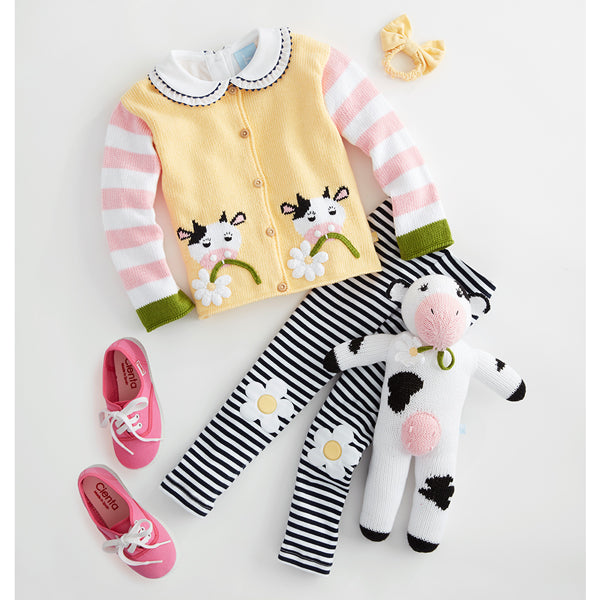 Striped Pima Applique Leggings