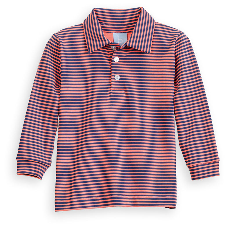 Striped Pima Polo Tee
