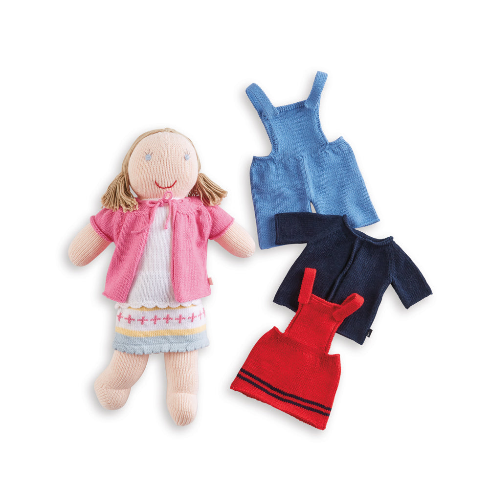 Knit Doll Set with Outfits
