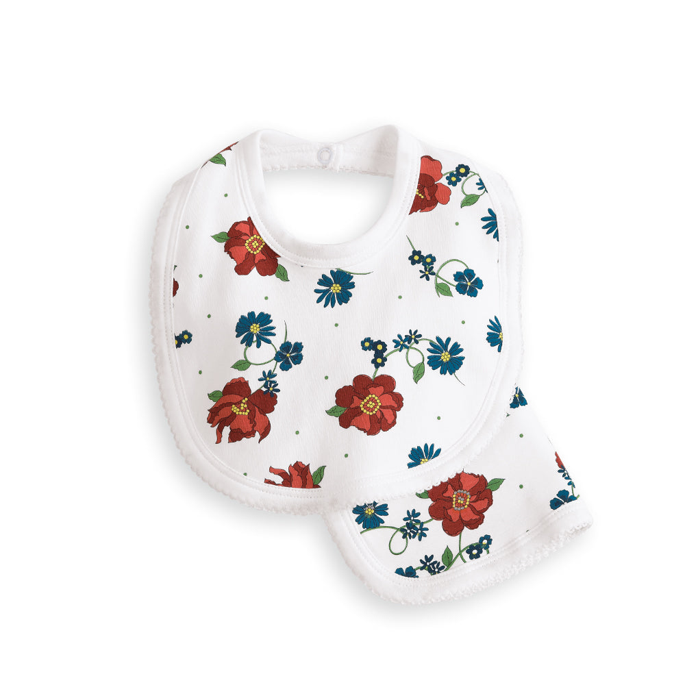 Seasonal Pima and Terry Printed Bib/Burp Set