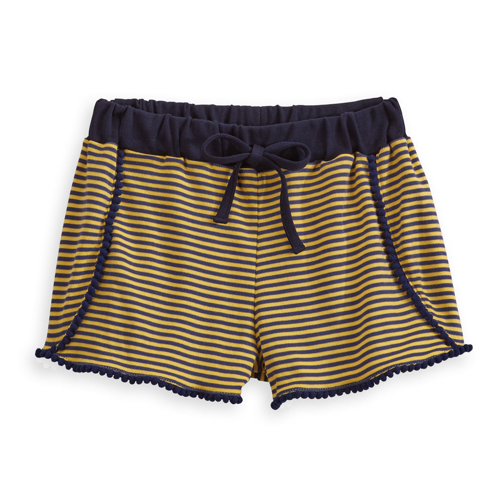 Striped Polly Pima Pom Pom Short