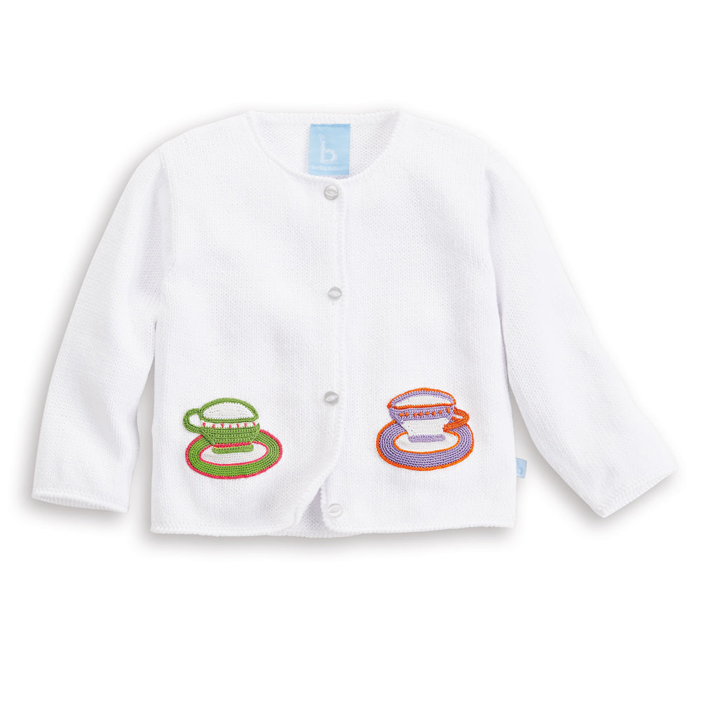 Applique Teacup Cardigan