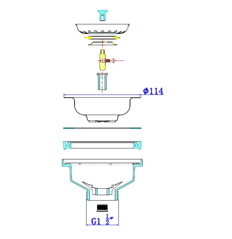 UNDERMOUNT SINK STST.572X432MM