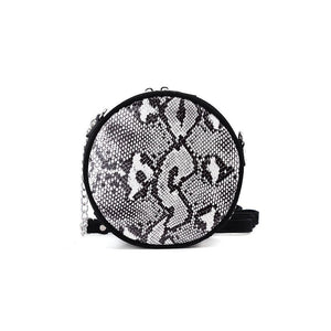 Circle Snakeskin Effect Bag
