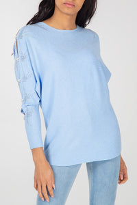 Diamond Arm Detail Batwing Jumper