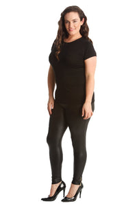 Wet Look Leggings - CURVE