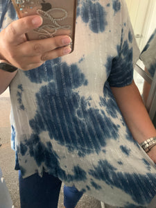 Tiered Sparkle Tie-Dye Top