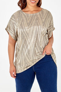 Zig Zag Brushed Top