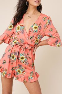 Floral Ruffle Playsuit
