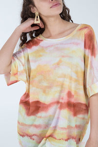 Sunset Tie Dye Oversized T-Shirt