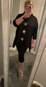 Glitter Stars Asymmetrical Sweater