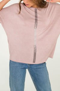 Diamanté Detail Oversized T-Shirt