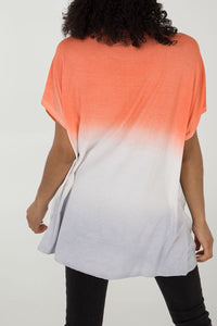 Diamanté Oversized Tie-Dye Top