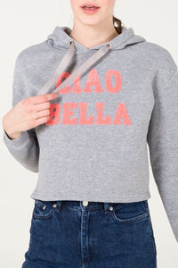 Ciao Bella Hooded Crop Sweater