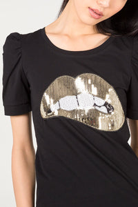 Sequin Lips T-Shirt