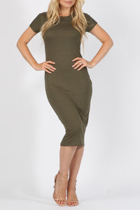 Midi Bodycon Dress - 5 colours