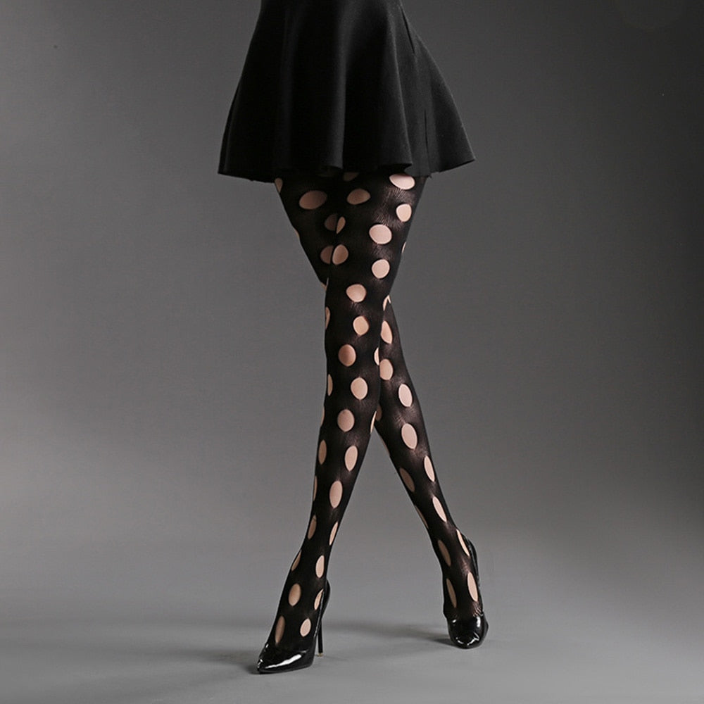 e6701295b7c Sexy Tights Hole Net Extreme Temptation Lady Stockings Pantyhose Female  Hosiery Designer Lingerie Black Fishnet Tights
