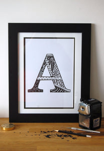 Letter A Print
