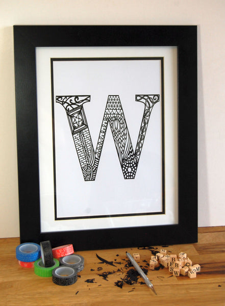Letter W Print