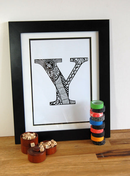 Letter Y Print
