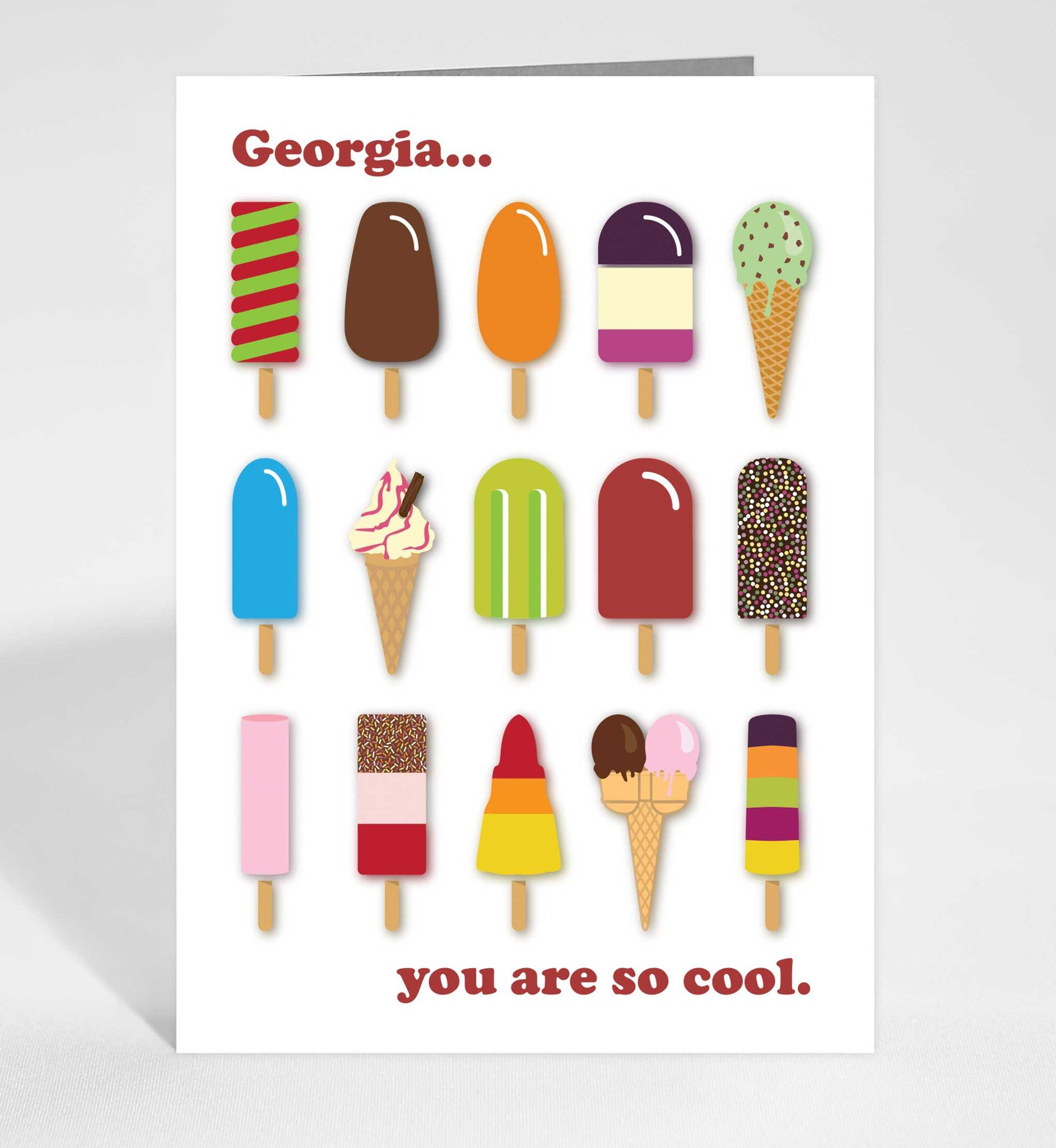 Personalised icy treats card