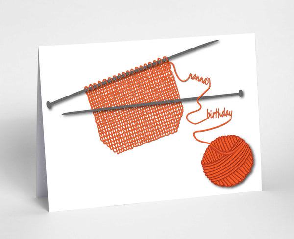 Personalised knitting card