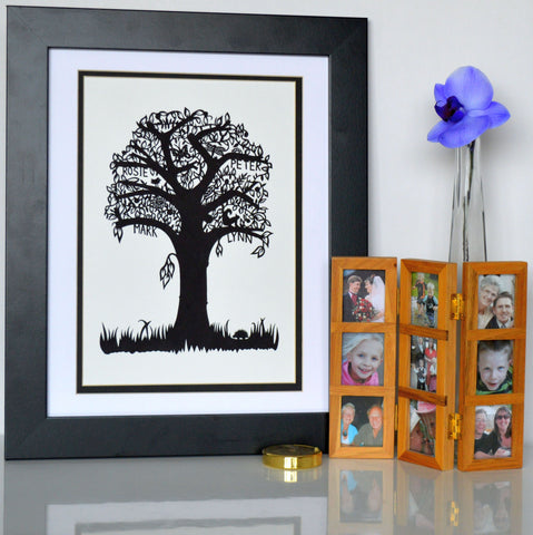 Hand cut Family tree
