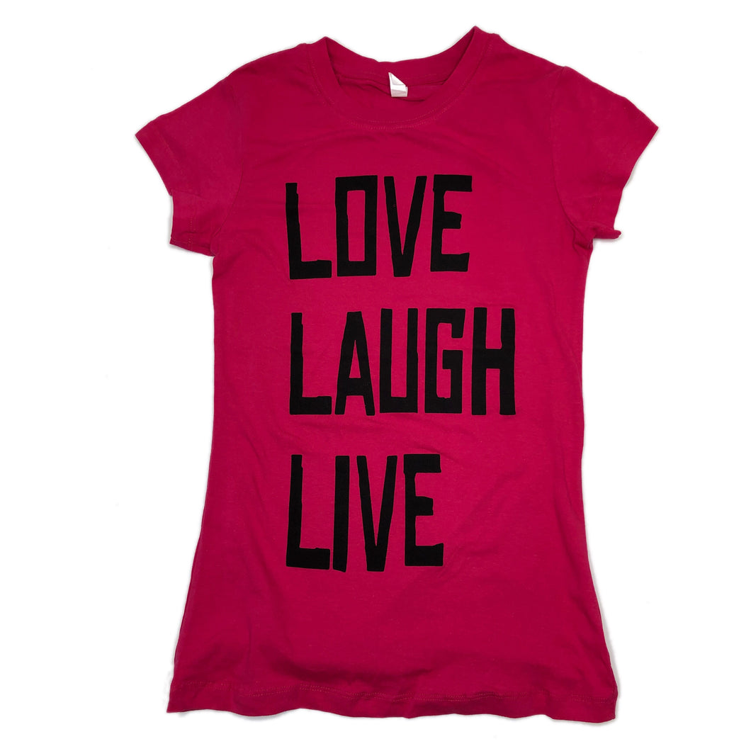 LOVE LAUGH LIVE TEE