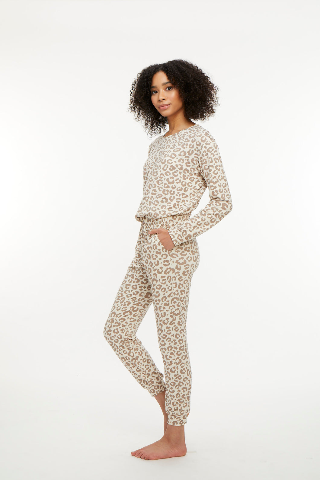 La Jolla Lounge Set - Ivory and Taupe Leopard