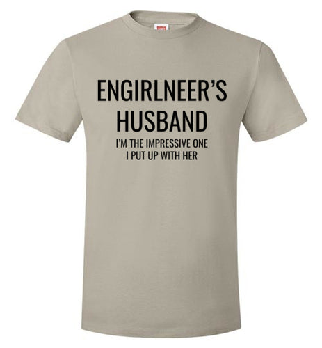 2A. Men's Loose Fit: ENGIRLNEER's Husband Shirt - enGIRLneer - Products and Gifts for Engineering Women and Girls