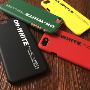 OFF ON WHITE Brand Cover iPhone