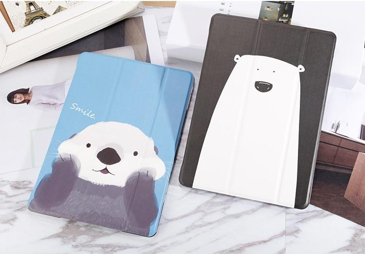Magnet Smart Cover Cartoon Case For iPad