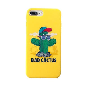Cactus Plants Candy Color Leaf Print Phone Cases for iPhone