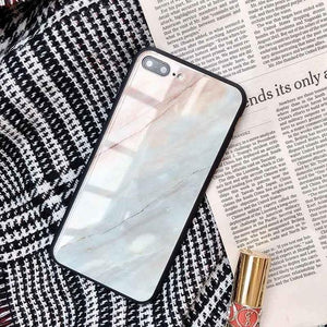 Tempered Glass Granite Stone iPhone Case Cover