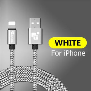 USB Fast Charging Cable For iPhone 7 8 6 5 6s S plus X XS MAX XR 1-3M