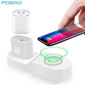 10W Fast Wireless Charger for iPhone/Samsung Apple Watch and Air Pods