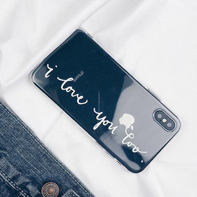 Couples Soft TPU Love Phone Case For iPhone