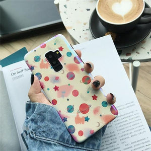 Cute Planet Moon Soft Case For Samsung Galaxy