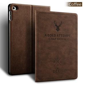 Deer Tablet Stand PU Leather Magnet Smart Cover Auto Sleep/Wake for iPad 9.7 inch