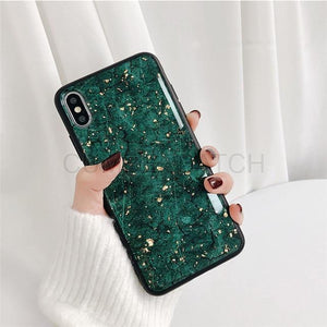 Marble Gold Flakes Case For Samsung Galaxy