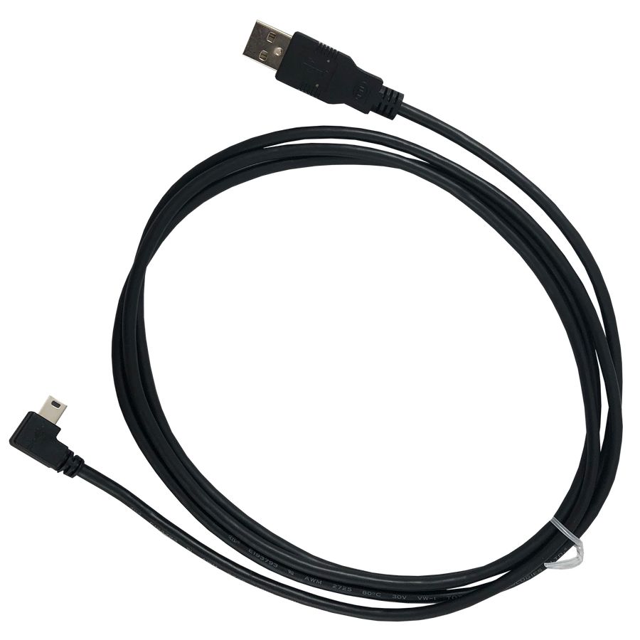 Mini-USB Data Cable - 6' - 90 Degree