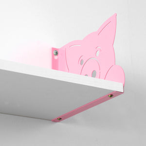 Funimal Floating Wall Shelves (2-Pack), Pig Decorative Bracket