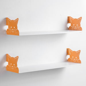 Funimal Nursery Floating Shelves (2-Pack), Cat Decorative Bracket